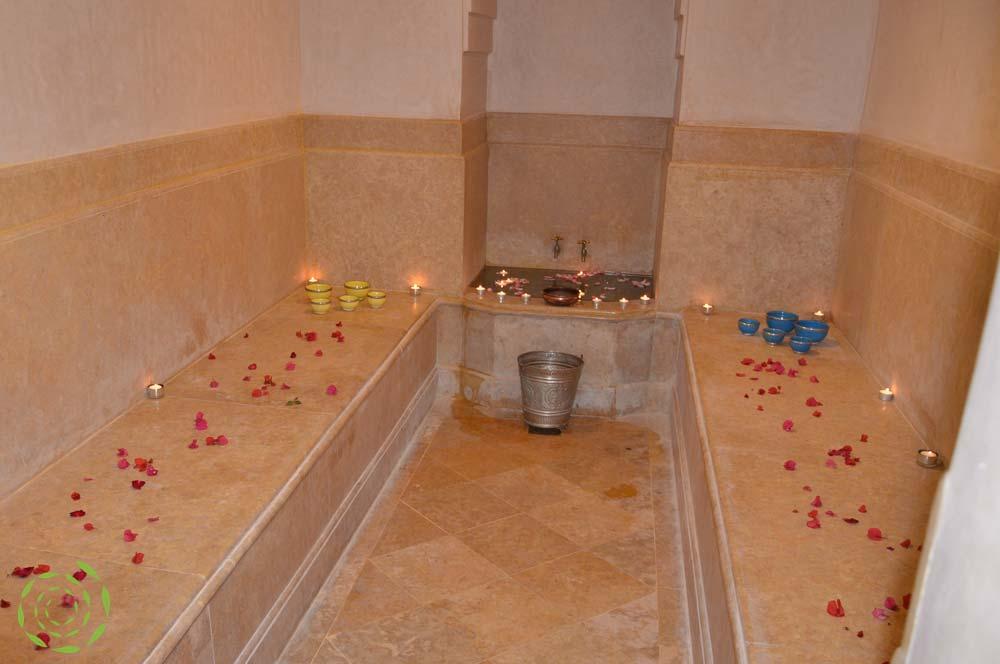 hammam - Louer villa Marrakech avec piscine et jardin privés