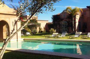 Louer villa Marrakech avec grand Jardin et piscine