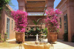Patio - Villa Jacaranda : Location villa Marrakech