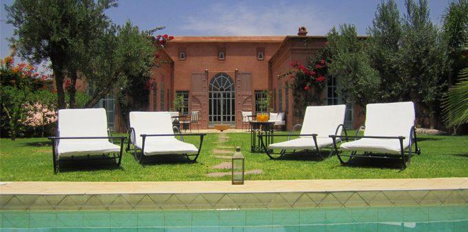 Location exclusive à Marrakech : Villa vacances 3 chambres en service hôtelier