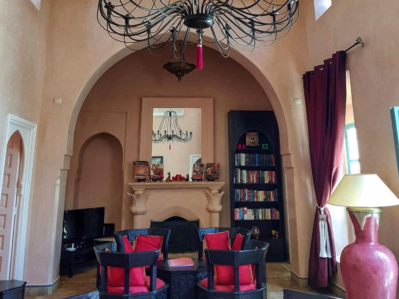 Salon - Villa Jacaranda : Location villa vacances à Marrakech