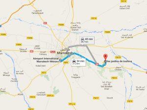 Adresse jardins de touhina marrakech