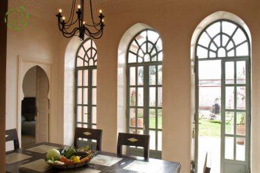 location villa Marrakech salle à manger