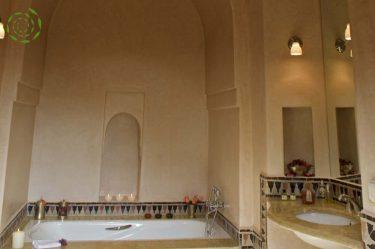 location villa Marrakech salle de bains