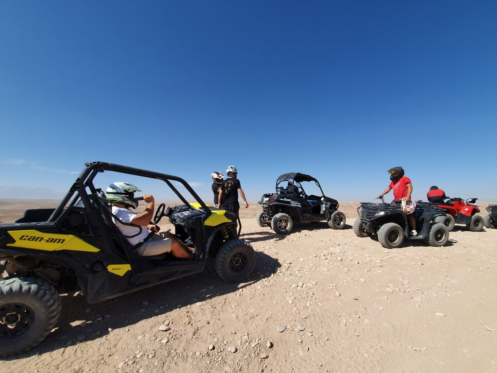 SSV ride in the desert in Marrakech