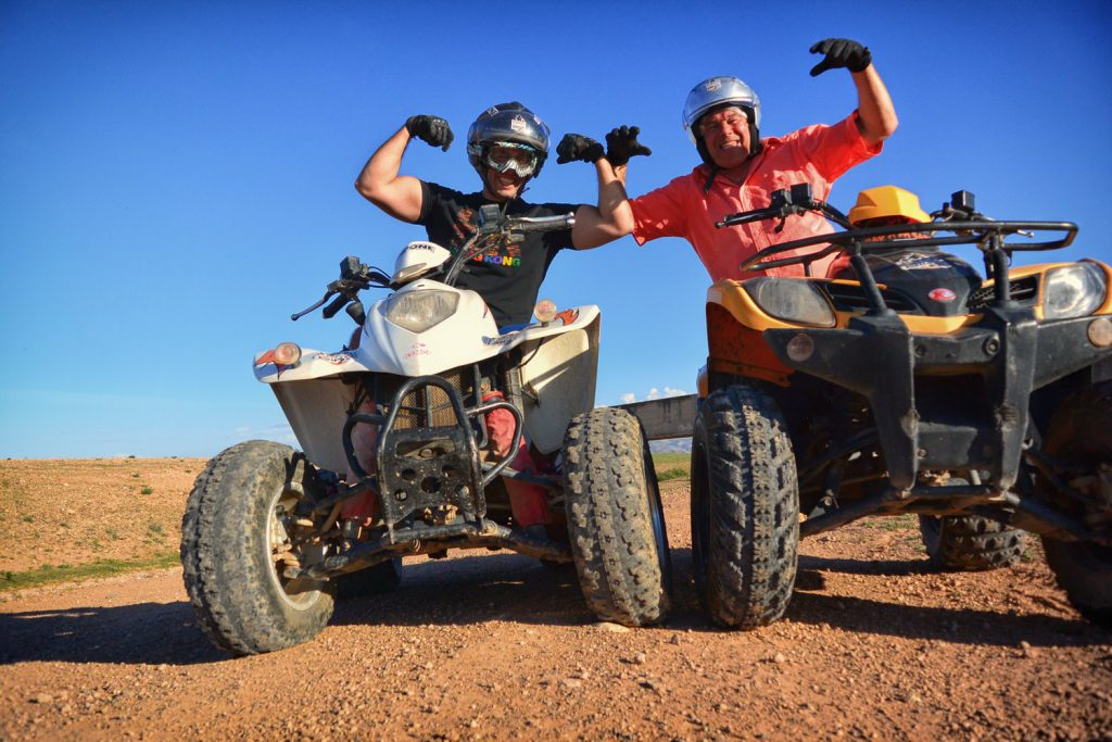 Quad ride with friends in Marrakech